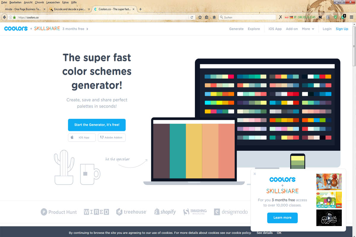 Color schemes generator